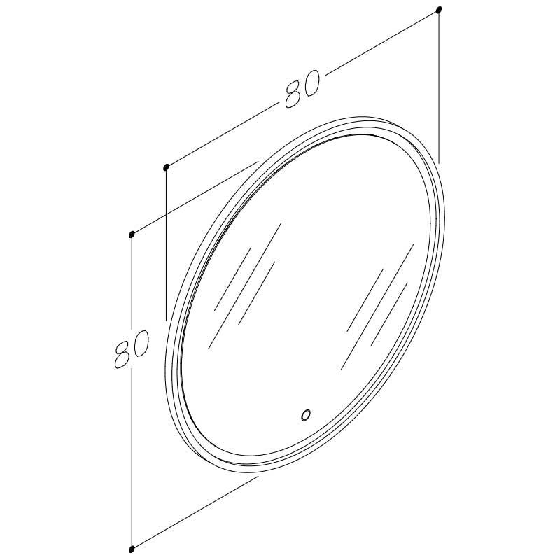 Lotus Round Stregtegning Spejl