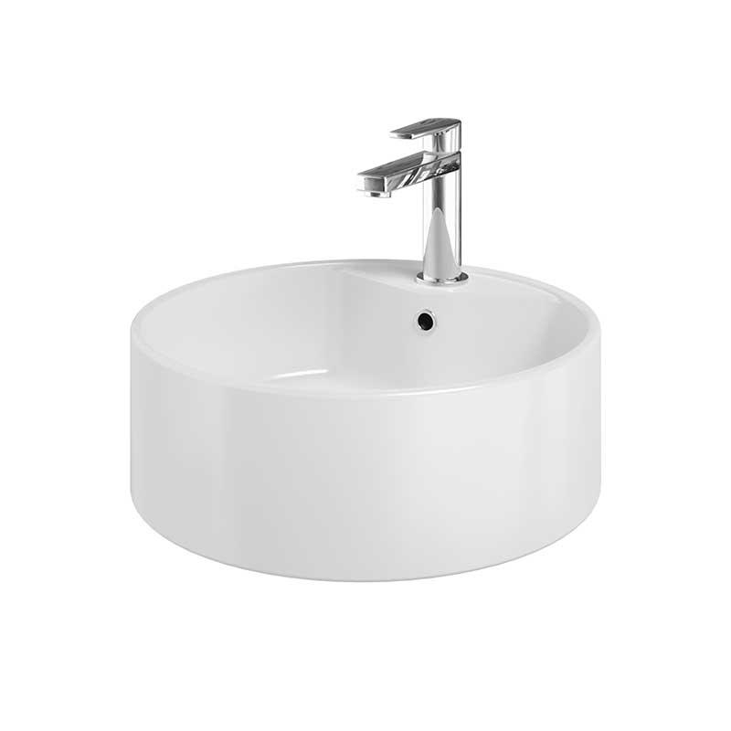 Rondo Fritstående Porcelænsvask Hvid