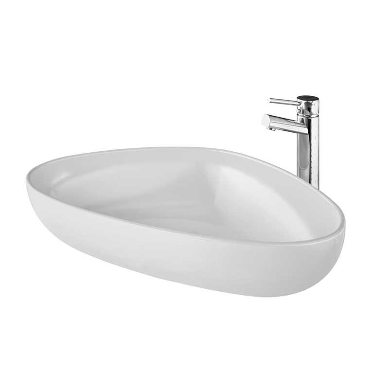 Terca Fritstående Porcelænsvask Hvid